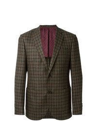 Olive Check Wool Blazer