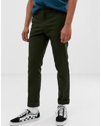 Dickies 872 Work Pant Chino In Slim Fit In Olive Green