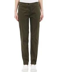 Raquel Allegra Chino Crop Trousers Green