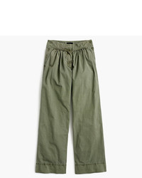 Collection wide leg cropped pant in italian chino medium 5080194