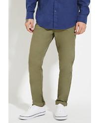 Forever 21 Cotton Blend Slim Fit Pants