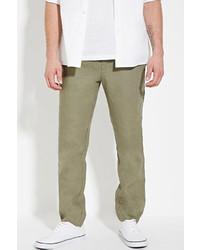 Forever 21 Drawstring Linen Pants