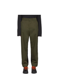 Moncler Genius Green And Black Nylon Trousers