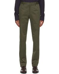 Ermenegildo Zegna Green Cotton Twill Trousers