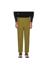 Homme Plissé Issey Miyake Green Monthly Colors November Trousers