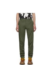 Burberry Green Shibden Chino Trousers