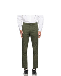 Norse Projects Green Slim Aros Trousers