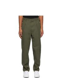 Maison Margiela Green Stone Enzyme Wash Trousers