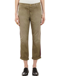 Current/Elliott Grosgrain Trimmed Twill Buddy Chinos