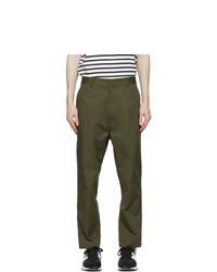 Comme des Garcons Homme Khaki Cotton Chino Trousers