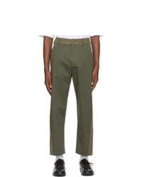 Valentino Khaki Gabardine Trousers