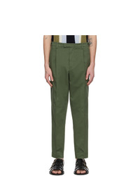 Barena Khaki Masco Stino Trousers