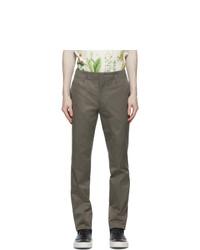Salvatore Ferragamo Khaki Slim Fit Trousers