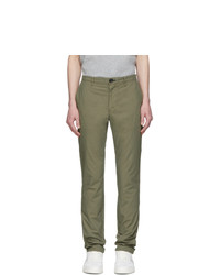 Ps By Paul Smith Khaki Slub Cotton Chinos