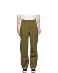 MAISON KITSUNÉ Khaki Worker Trousers