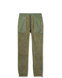 Amiri Slim Fit Tencel Panelled Fleece Drawstring Trousers
