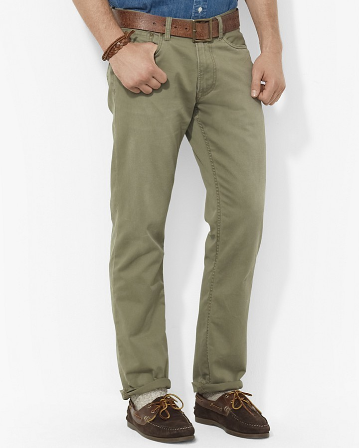 ... Olive Chinos Polo Ralph Lauren Straight Fit Five Pocket Chino Pant
