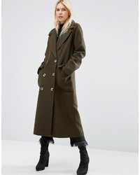 Asos Coat With Oversized Styling