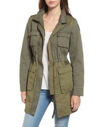 Colorblock cotton twill utility coat medium 4950372