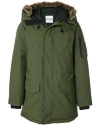 Kenzo Raccoon Fur Trim Hooded Coat