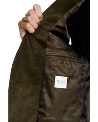 Spurr By Simon Spurr Olive Green Two Button Notch Lapel Slim Fit Corduroy Sport Coat