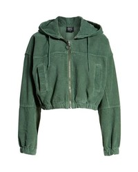BDG Urban Outfitters Crop Corduroy Bomber Jacket