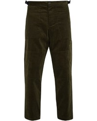 Oliver Spencer Judo Tapered Leg Cropped Cotton Corduroy Trousers