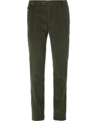 Olive Corduroy Dress Pants