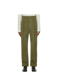 Gucci Green Corduroy Trousers