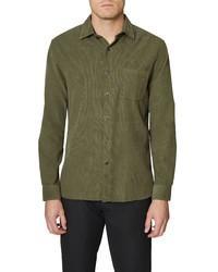Hickey Freeman Corduroy Button Up Shirt