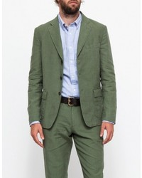 Apolis Linen Civilian Blazer In Olive
