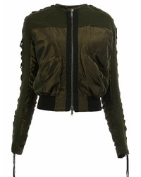 Haider Ackermann Ruched Bomber Jacket