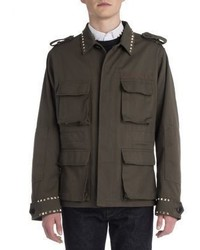 Valentino Army Rockstud Parka Jacket