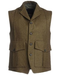Olive Cotton Waistcoat