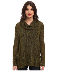Cameron pocketed cowl slub sweater knit medium 385092