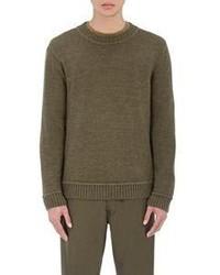Simon Miller Baby Alpaca Crewneck Sweater Dark Green