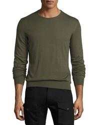 Ralph Lauren Cashmere Crewneck Sweater Olive