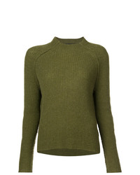 Nili Lotan Cashmere Rib Knit Sweater