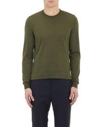 Officine Generale Crewneck Sweater Dark Green Size S