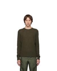 Prada Green Shetland Crewneck Sweater