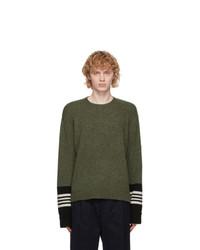 Neil Barrett Green Techno Travel Sweater