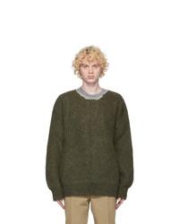 Maison Margiela Green Wool Gauge 5 Sweater