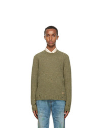Gucci Green Wool Square G Sweater