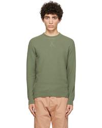 Sunspel Khaki Fine Texture Sweater