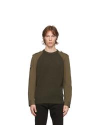 Alexander McQueen Khaki Hybrid Crewneck Sweatshirt