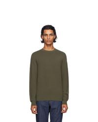 A.P.C. Khaki Wire Pullover Sweater
