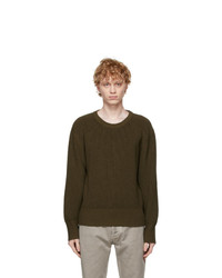 Maison Margiela Khaki Wool Sweater
