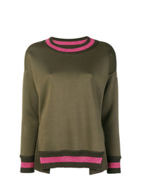 Moncler Lurex Stripe Trim Sweater