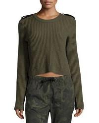 Rag & Bone Jean Tara Ribbed Pullover Army Green