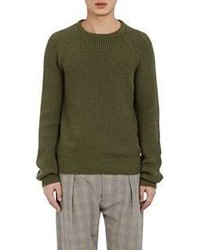 Lemaire Rib Knit Sweater Dark Green